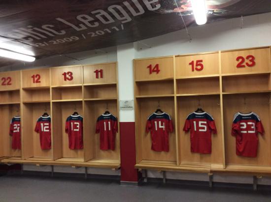 Thomond Park Stadium: Dressing room
