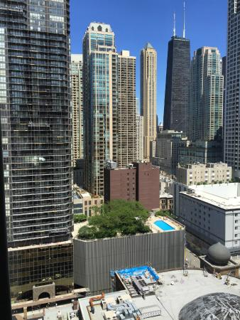 View from room 2238 picture of hilton garden inn chicago for All hotels downtown chicago