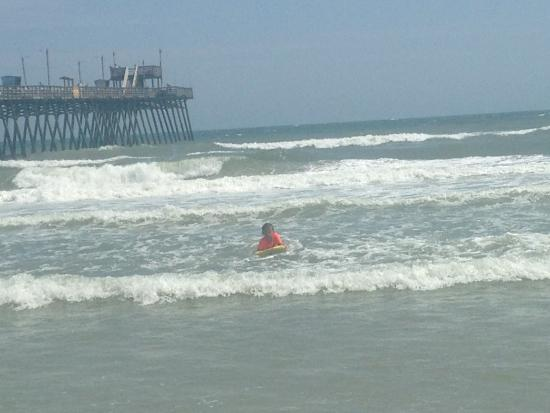 Great place for fishing and the view is breathless for Bogue inlet fishing pier emerald isle nc