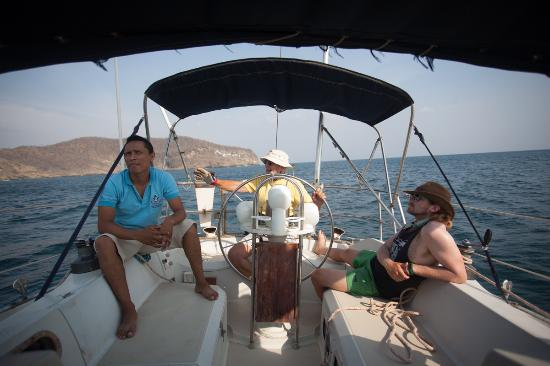 """Exploradores Marinos day tours: Ralph and his first-mate, one of the """"Sea Scouts"""""""