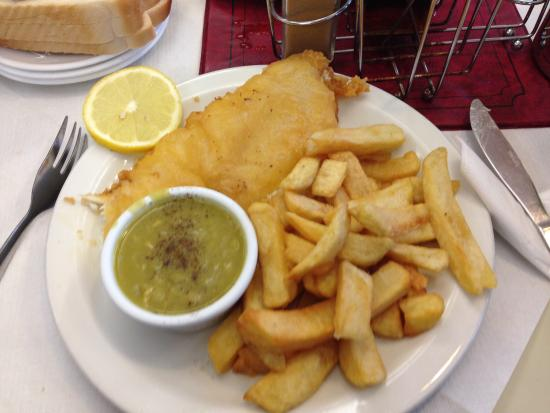 Picture of pinnacles restaurant seahouses for Fish chips restaurant