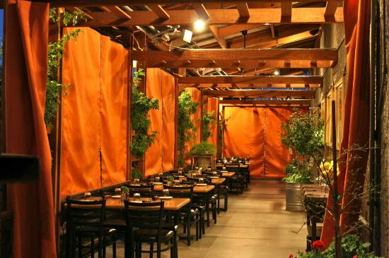 Beckett's Table: East Patio Shades Closed