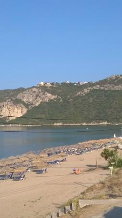 Belle Helene Hotel: Beach and Afionas from pool