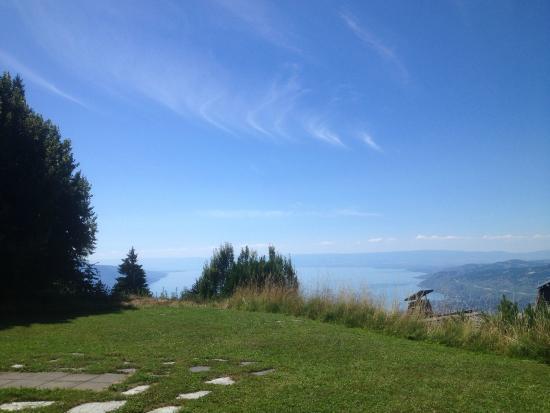 Caux, Szwajcaria: Vue panoramique depuis la terrasse de l'hôtel-restaurant