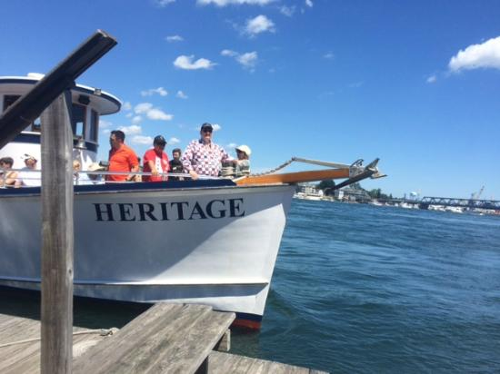 The Oar House: Tourist boat returning from tour