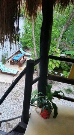 Tunich Jungle Cabañas: Our room view