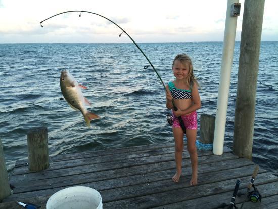 Casa Blanca Mata Grande : Fishing from the front pier!