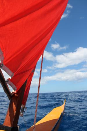 Hawaiian Sailing Canoe Adventures: my favorite view!