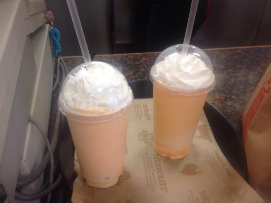 orange creamsicle milkshakes yum picture of arby s dansville