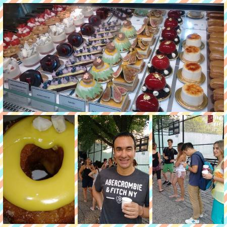 Delicious cronut and pastry and the line at 7.30am