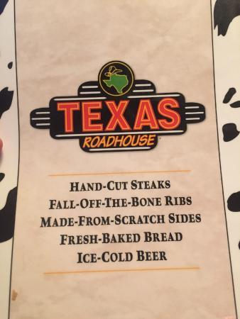 Texas Roadhouse: Menu