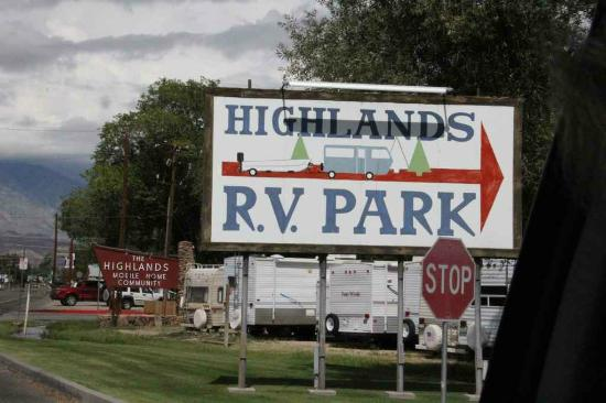 Highlands RV Park: Entry area