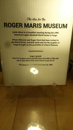 Roger Maris Museum: A humble man, Maris gives his thoughts on a museum in his honor.