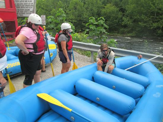 Pigeon River: Great equipment & Sterling, a great river raft guide