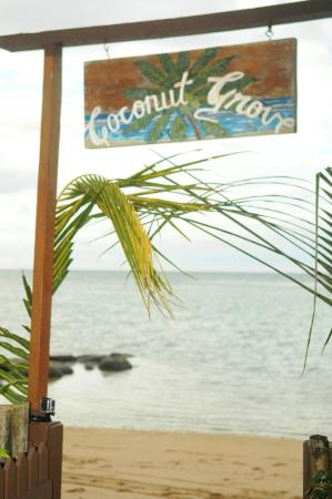 Coconut Grove Beachfront Cottages: Beach Entrance