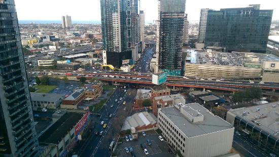 Melbourne Short Stay Apartments at SouthbankOne: View from the living room