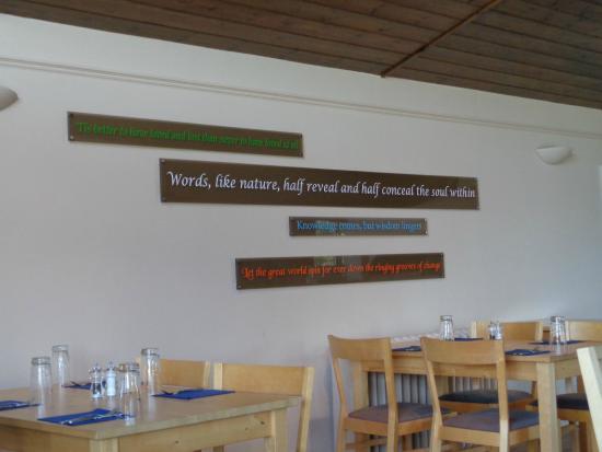 The Garden Cafe at Farringford: Inside the restaurant