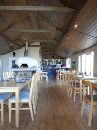 The Garden Cafe at Farringford: Inside the restaurant with the Pizza oven