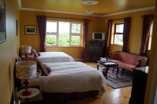 Cappabhaile House: grande chambre
