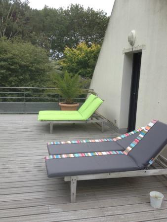 La Canopee des Pins: la terrasse de la chambre