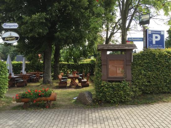 Gasthof zur Dammschenke: Essen & Trinken & Biergarten im Sommer