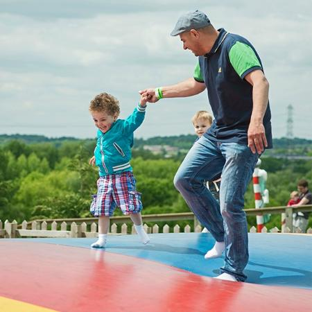 Lee Valley Park Farms: Bounce about on the jumping giant pillow