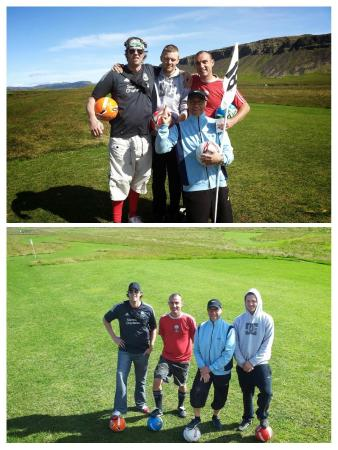 Markavollur Footgolf: Happy players