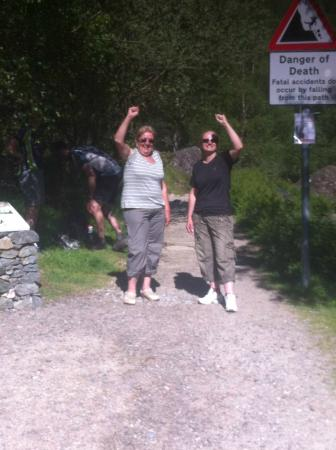 Corrieview Lodges: They made it down from Steall Falls