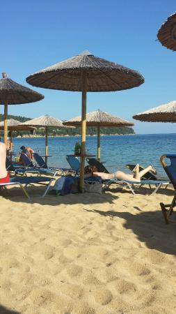 Agia Paraskevi Beach - Your nearest (8 Euros 2 x Sunbeds/Umbrella)