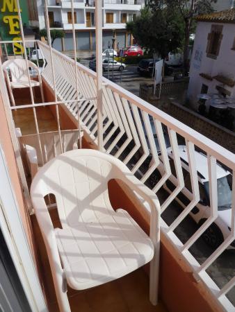 Hotel Hermes: Mini terraza.