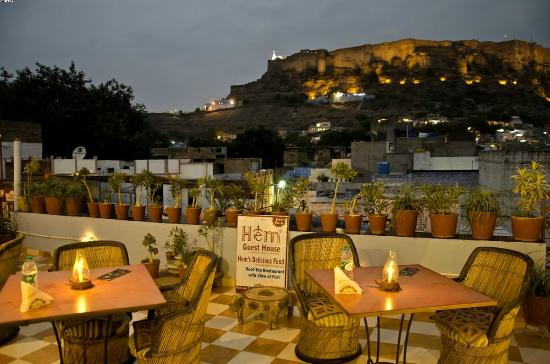 Hem's Delicious Food: Roof Top Restaurnat with View of Mehrangarh Fort & Blue City View