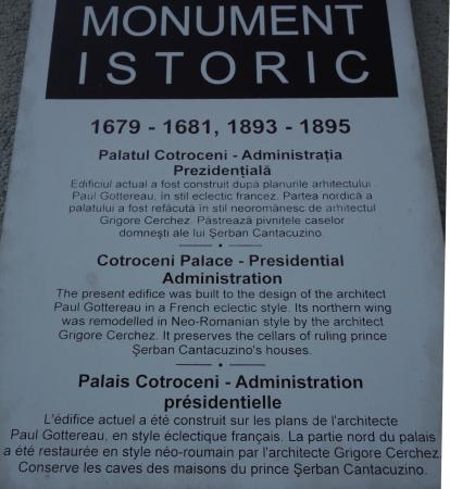 Palacio de Cotroceni: Palatul Cotroceni, Bucuresti