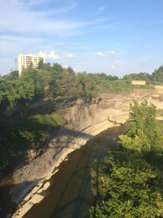 Genesee River's High Falls: amazing wall