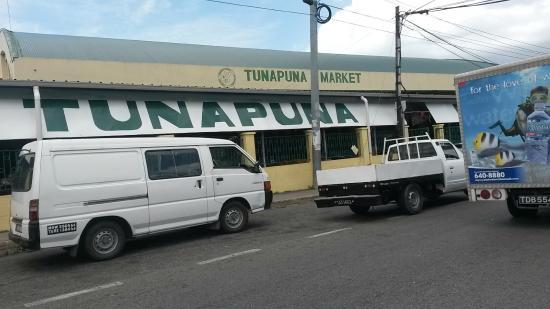 Tunapuna Market : Fachada del mercado