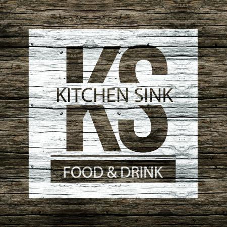 kitchen sink food drink wooden logo - Kitchen Sink Drink