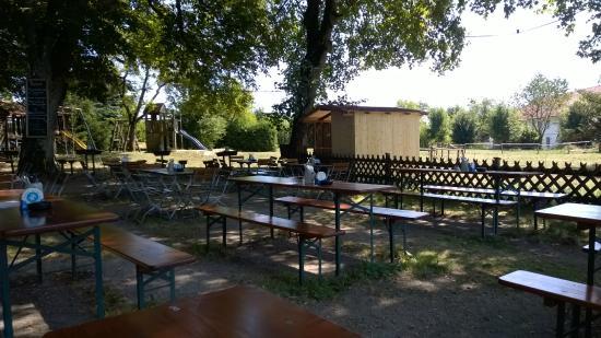 Schlossgaststätte Falkenberg: ...da kann es schon sein, dass man mal ganz alleine ist.