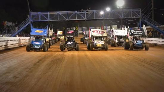 Mechanicsburg, PA: World of Outlaws 4 Wide Salute from our pace truck