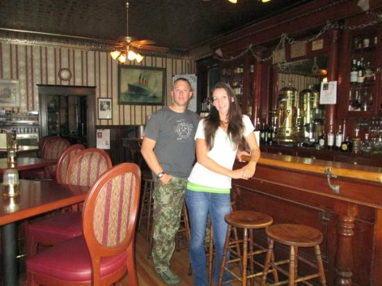 1859 Historic National Hotel : My husband and I in the historic bar