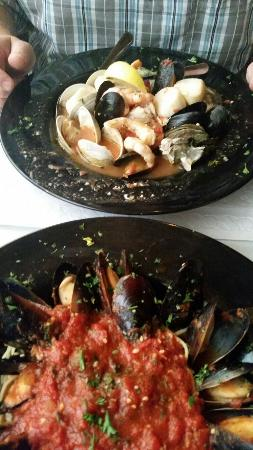 AJ's on the Creek : Seafood Boulibase and Mussels Marinara, Delicious!