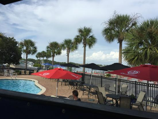 Backyard Porch Panama City Beach : Patio view  Picture of Runaway Bay Caribbean Grill, Panama City Beach