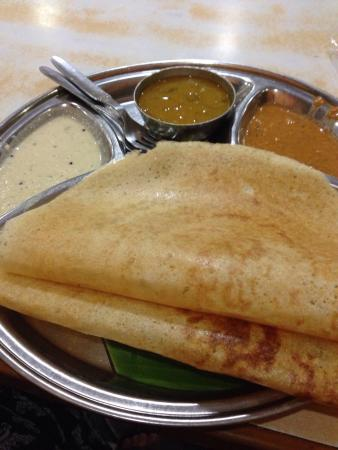2 Dosa for 70Rs with two delicious chutneys and sambar. All free refill.