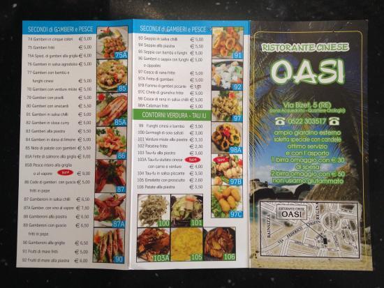 Men foto di ristorante cinese oasi reggio emilia for Menu cinese