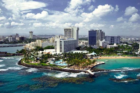 Caribe Hilton San Juan: Aerial View of Hotel Exterior