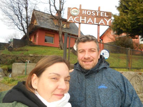 Hostel Achalay: Vista de la entrada al Hostel