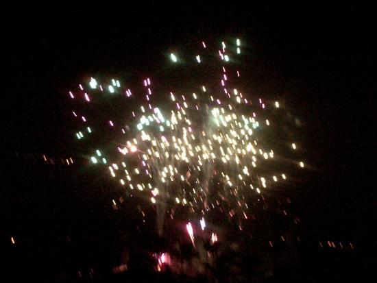 Le Saint Denis : vue  feu artifice