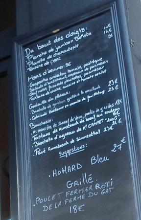 Glouton le Bistrot: The board . . . .go for it !