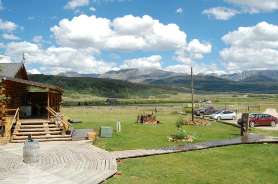 Cora, WY: View from the front porch of our cabin.