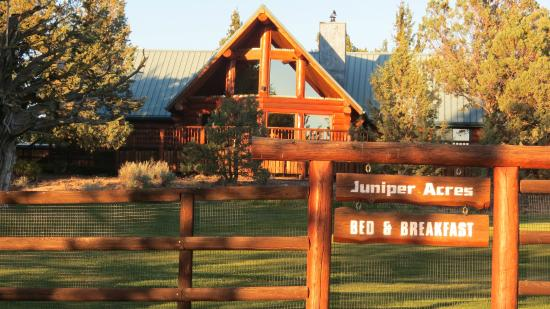 Juniper Acres Bed and Breakfast: Front of Juniper Acres and beautiful front yard