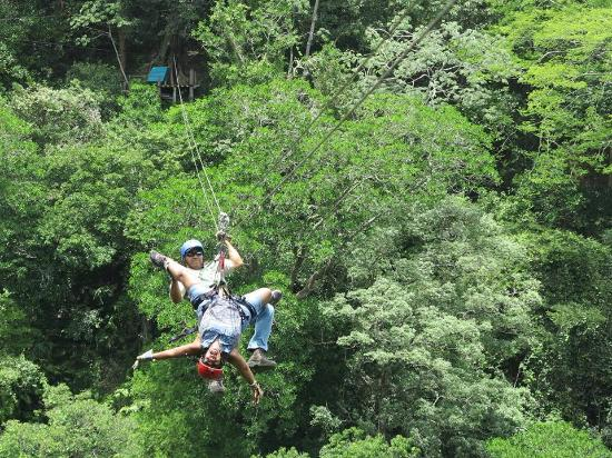 Yes! I am ziplining upside down! - Picture of Costa Rica