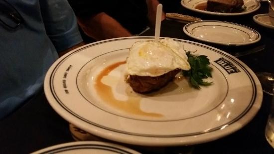 Pittsburgh Blue: Filet with Fried Egg Topper